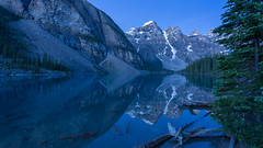 Morning Reflections at Moraine ... in Blue (Ken Krach Photography) Tags: lakemoraine banffnationalpark