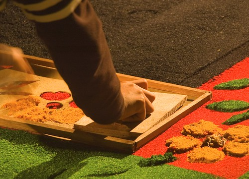 Semana Santa Elements: Sawdust carpets