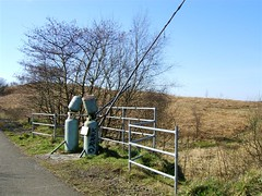 Calor Fisherman (NCN75) (Lidwit) Tags: abandoned nature walking landscape geotagged cycling scotland countryside walk north scottish railway route cycle disused loch 75 bridgend hillend lanarkshire caldercruix