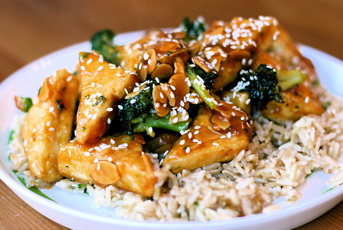 Broccoli Almond Tofu