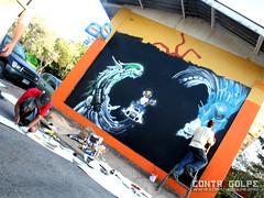 SI JUEGAS CON FUEGO ACABAN A LO BONZO... ((  A R T E  )) Tags: chile street santiago art video arte graff rayne droh xeter