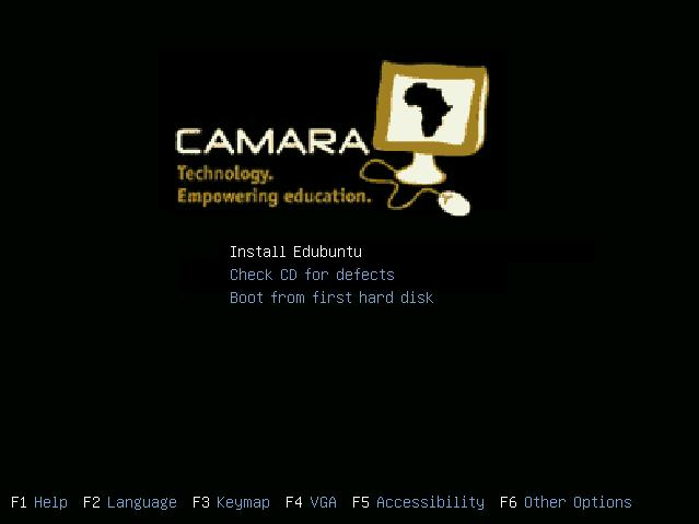 Camarabuntu Install Splash