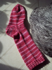 sock made with hand-dyed yarn 5