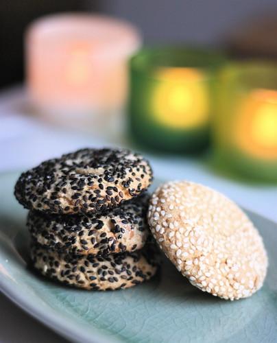 Peanut Sesame Ginger Cookies