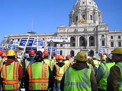 Every Rally should have hard hats (cursedthing) Tags: copyright minnesota rally stpaul 49ers capitol creativecommons april ironic 2007 aflcio afscme workerssolidarity iuoe council5 transportationrally i35wbridge cursedthing fundourroads