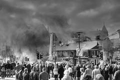 Reykjavík Burning (Pezti) Tags: houses blackandwhite bw house fire iceland burning pravda firemen reykjavík coolest firefighters tamron2875f28 flickrphotoaward