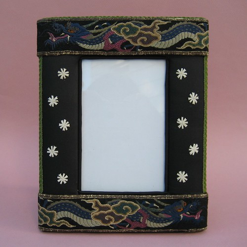 Dragon Batik Frame, antique Frame
