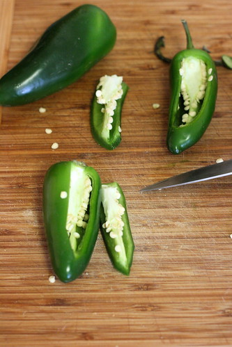 Trimming the Jalapenos