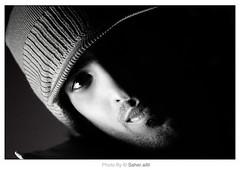 A L A s ,, (Nasser Bouhadoud) Tags: portrait bw white black eye home canon 350d alas fahad nasser doha qatar saher   allil