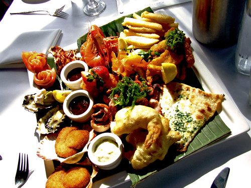 Shellharbour Food Photography: Seafood Platter for One ($55) from Ocean Beach Hotel, Shellharbour NSW 2528 Australia