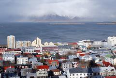 Les toits de Reykjavik vus de Hallgrimskirkja Church