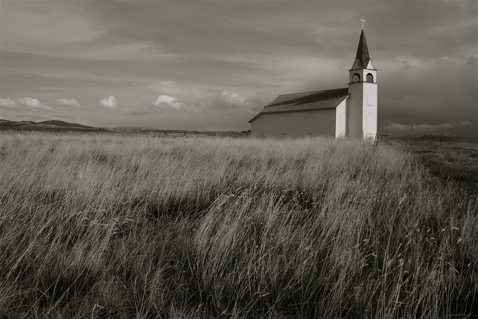 Church with Meadow and History