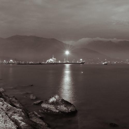 Late evening in Gaeta (selenium)