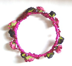 Flower & Crystal Bangle