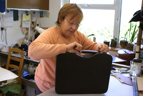 Marie Upshire 1 w Calder laptop