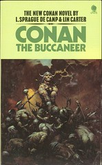 L Sprague De Camp and Lin Carter - Conan the Buccaneer (Sphere) (levar) Tags: vintage book paperback fantasy cover 1975 bookcover pastiche conan reprint myscans lincarter lspraguedecamp frnakfrazetta