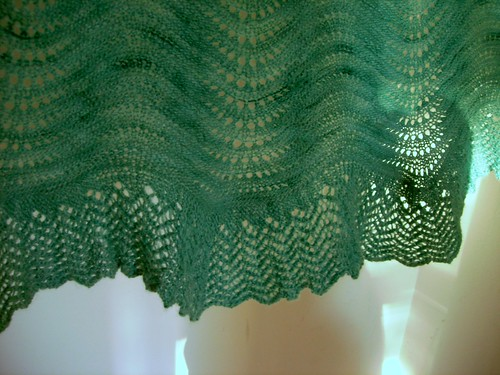 Detail of the Bloom Shawl