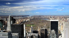 Central Park & The Hudson River (Scott Foy) Tags: park nyc trees usa ny newyork canon buildings river bravo centralpark manhattan midtown hudsonriver rockefellercentre soe topoftherock georgewashingtonbridge supershot 400d abigfave scottfoy aplusphoto