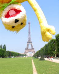 Flat Eric in Paris: Eiffel tower