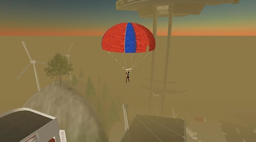 Sky Diving in Second Life (11)