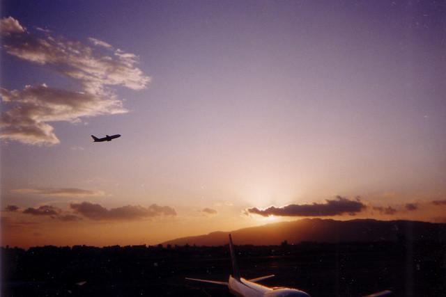 夕空のフライト