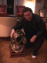 Bob Frassinetti And the Diving Helmet US Navy A-35 This one used by the Argentinean Navy.