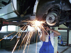 Sparks fly (Axel-D) Tags: car germany deutschland mercedes benz diy pentax workshop repair sparks axeld optioe20