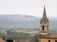 Rain over Lacoste (jprowland) Tags: france tower church french europe cathedral spire valley provence luberon fr lacoste francais vaucluse bonnieux provenal