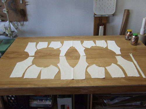 test bodice pieces
