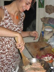 Ysanne cooking