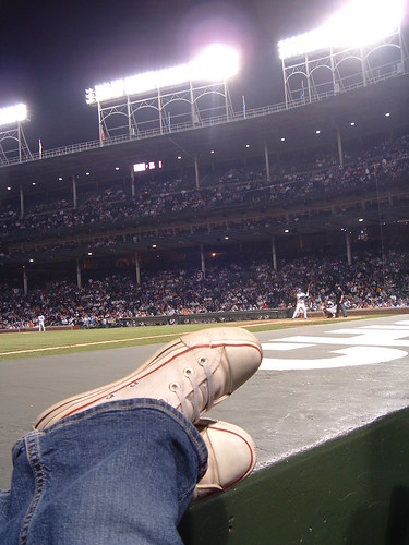chilling at Wrigley