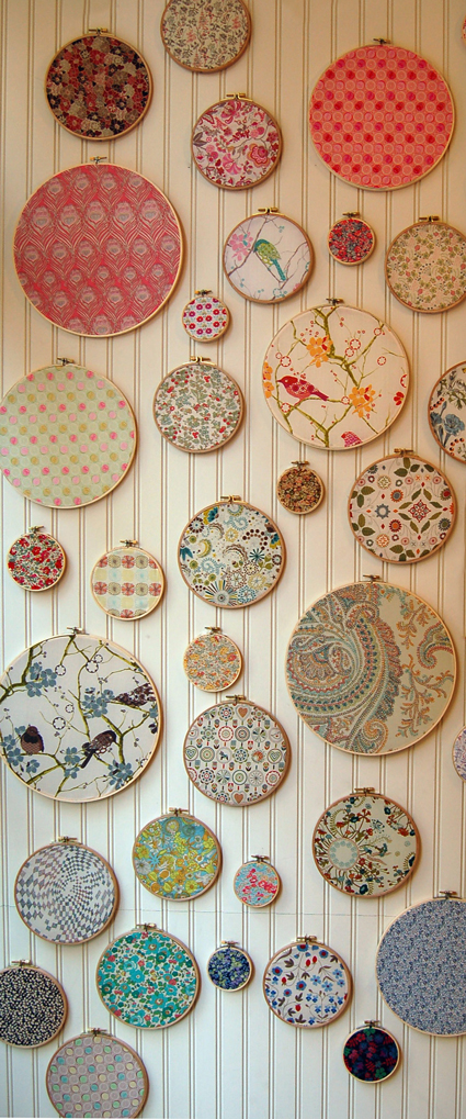 Purl Patchwork wooden embroidery hoops display
