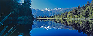 Lake Matheson from Reflection Island, West Coast, New Zealand