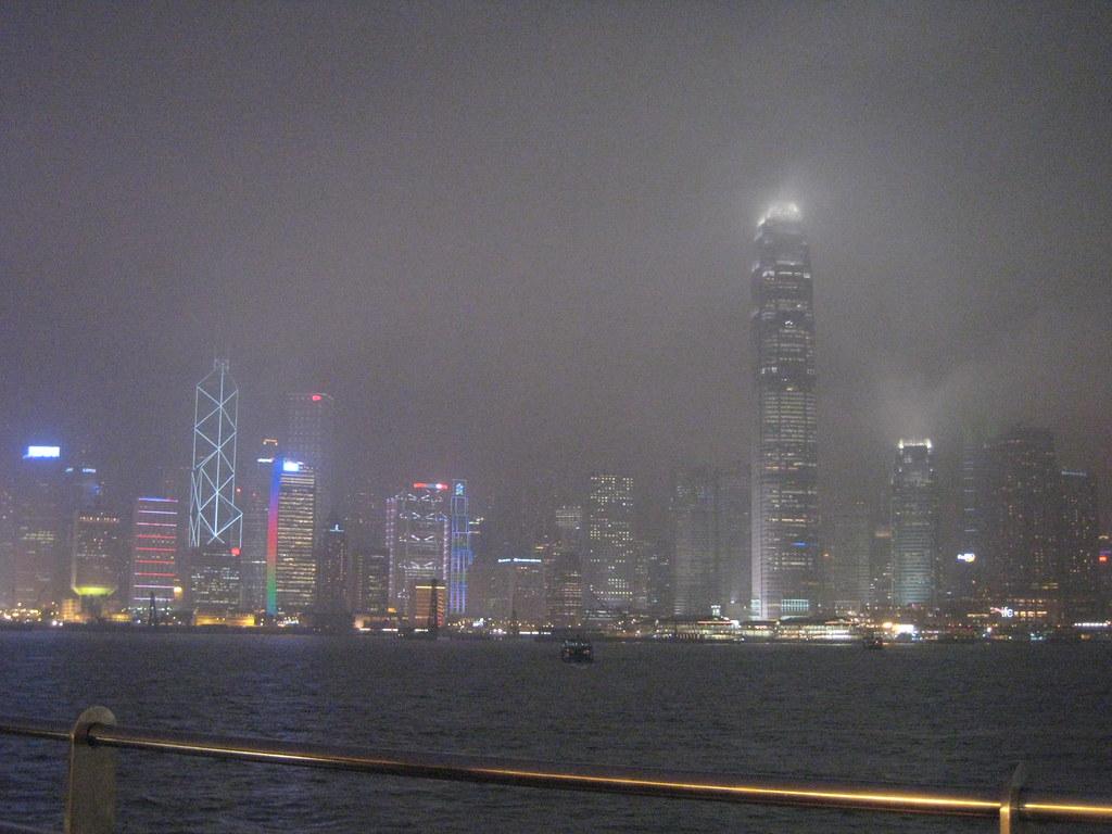 Hong Kong pollution at night
