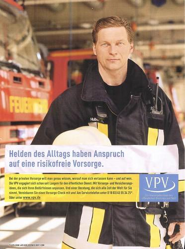 Feuerwehr als Werbemotiv