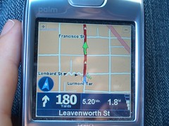 TomTom on the Palm Treo 680