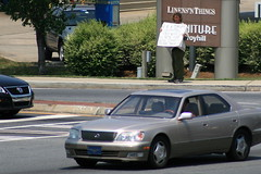 U R A Corrupt Generation (RW PhotoBug) Tags: guy sign swim religious crazy place underwear religion free parkway cobb onepiece speech barrett blvd kennesaw posterboard twopiece canon30d themessenger canonef75300mmf456iii