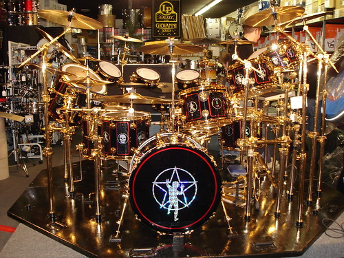 neil peart drum set attitude