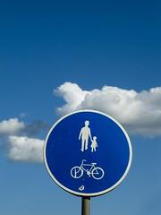 People walk over the cloud... (Georgios Karamanis) Tags: blue sky people cloud bicycle sign child sweden uppsala sverige explored karamanis