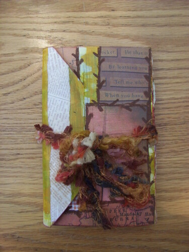 Collaged Accordion Book 1