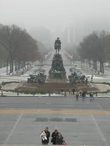第三天來到費城美術館時下大雪