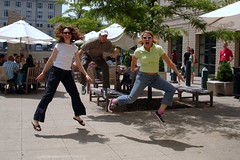 Powered By Fudge (elston) Tags: laura jump jumping brian sharon mersoncourtyard flickr:user=sharwest flickr:user=stasarama flickr:user=nonesuch