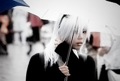 Girl with white hair (manganite) Tags: girls portrait people cute topf25 colors beauty face fashion japan digital umbrella hair geotagged asian japanese tokyo costume interestingness google cool asia cosplay tl candid gothic young teens style explore harajuku fancy teenager  nippon  highkey d200 nikkor dslr gals topf150 topf100 topf200 nihon kanto stylish japanesegirl  topf700 topf600 supershot interestingness15 topf800 i500 18200mmf3556 utatafeature manganite nikonstunninggallery ipernity challengeyou challengeyouwinner abigfave impressedbeauty superaplus aplusphoto goldenphotographer diamondclassphotographer flickrdiamond geo:lat=35669816 geo:lon=139702452 date:year=2006 date:month=september date:day=17