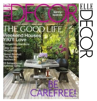 Thank you, Elle Decor!