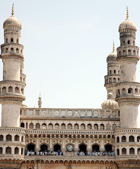 Charminar  in Hyderabad (Hyderabadonline) Tags: india muslim islam mosque hyderabad andhra pradesh charminar golconda meccamasjid secunderabad