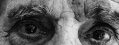 Oldman's Eyes (Wajdi Bleik) Tags: old man grey eyes tears shine expression oldman expressive emotional shining wrinckles blackeandwhite
