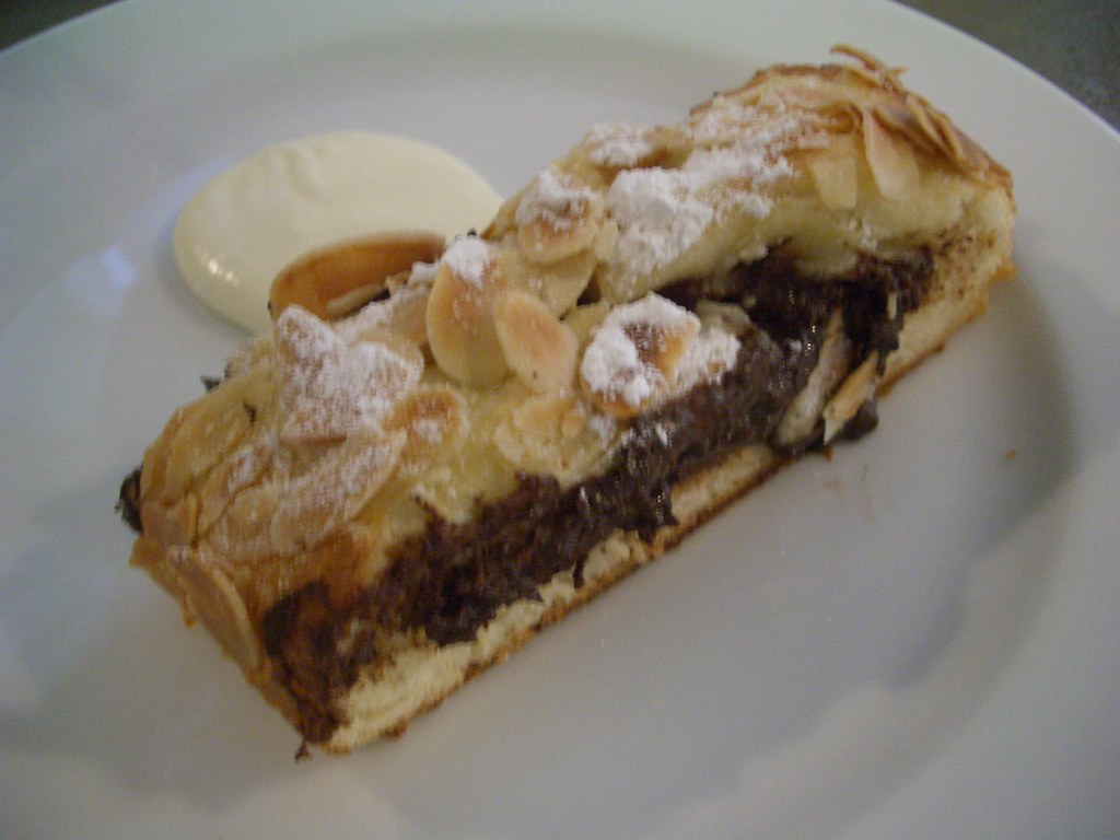 Almond and chocolate danish