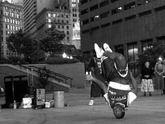 the head spin (decaturjonz) Tags: city blackandwhite bw boston delete10 delete9 delete5 delete2 dancing delete6 delete7 delete8 delete3 delete delete4 save flickrchallengegroup beginnerstreetphotography thatsclassy