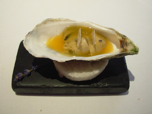 The Fat Duck: Oyster, Passion Fruit Jelly, Lavender