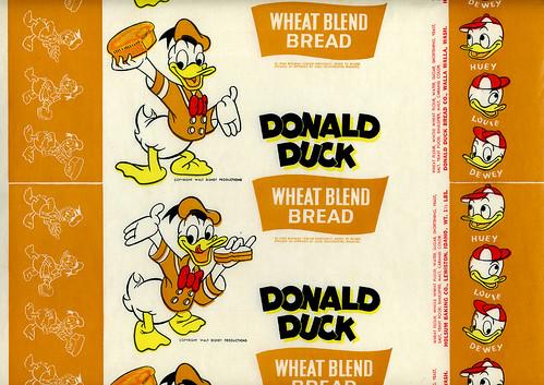 Donald Duck Bread Wrapper da grickily.